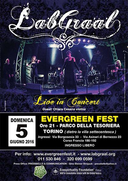 LabGraal live alla Parco della Tesoriera - Torino 5 giugno 2016