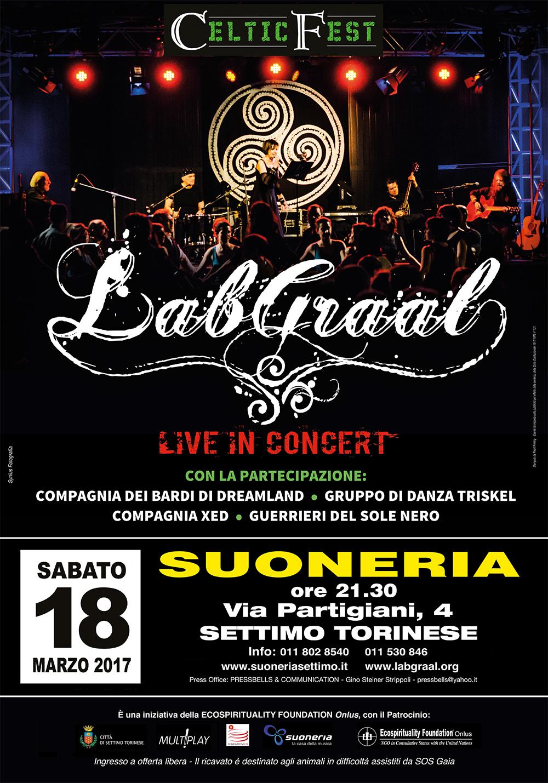 Sabato 18 marzo 2017, ore 21.30 Suoneria di Settimo - LabGraal Live Celtic Fest 2017